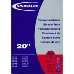 Schwalbe Chambre à air vélo 20 X 1,50  2,50 SV7 valve Presta