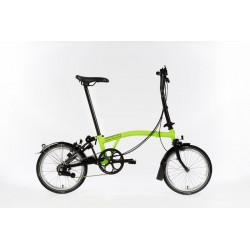 Vélo pliant Brompton Full Black Edition M6L couleur Vert Citron et Noir