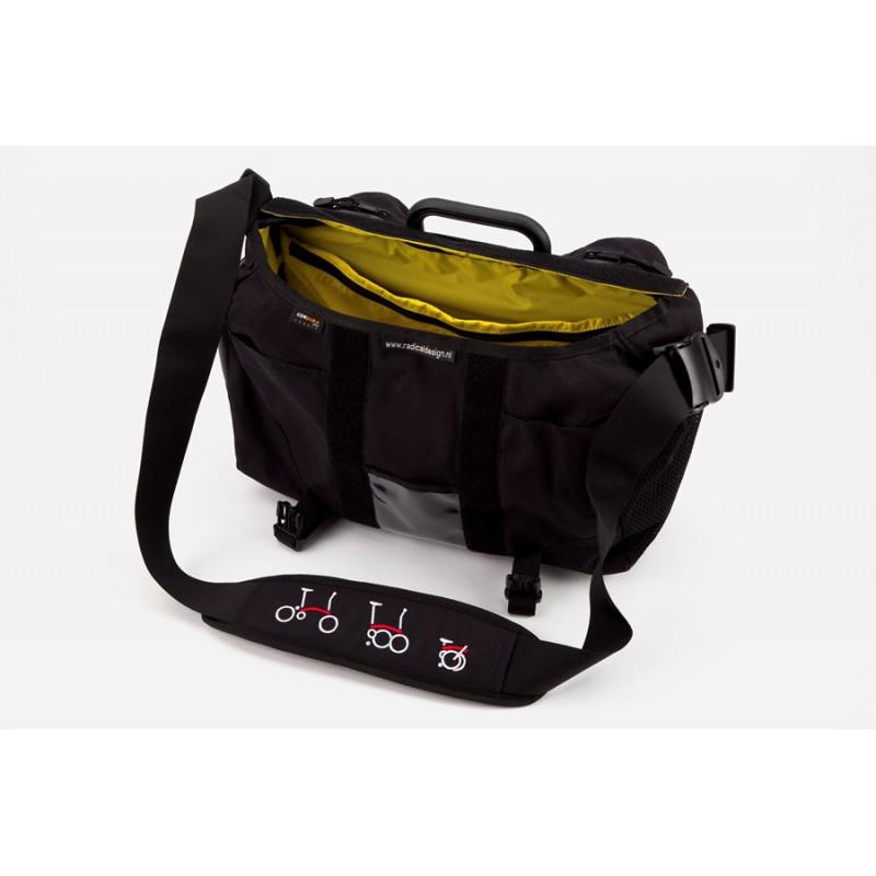 Sacoche Brompton Set S-Bag 20L sans couverture avant avec bloc de fixation (QSB-NOFLAP)