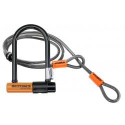 Antivol vélo U KRYPTONITE Evolution Mini-7 w/ Flex Cable & Flexframe Bracket