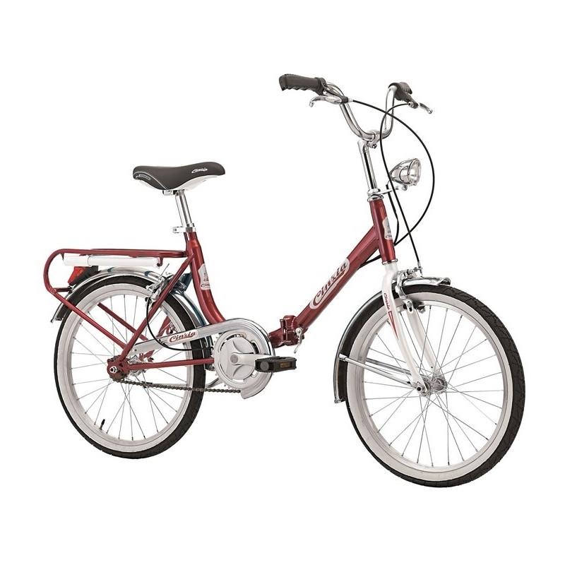 Vélo pliant Cinzia Firenze mono vitesse Rouge