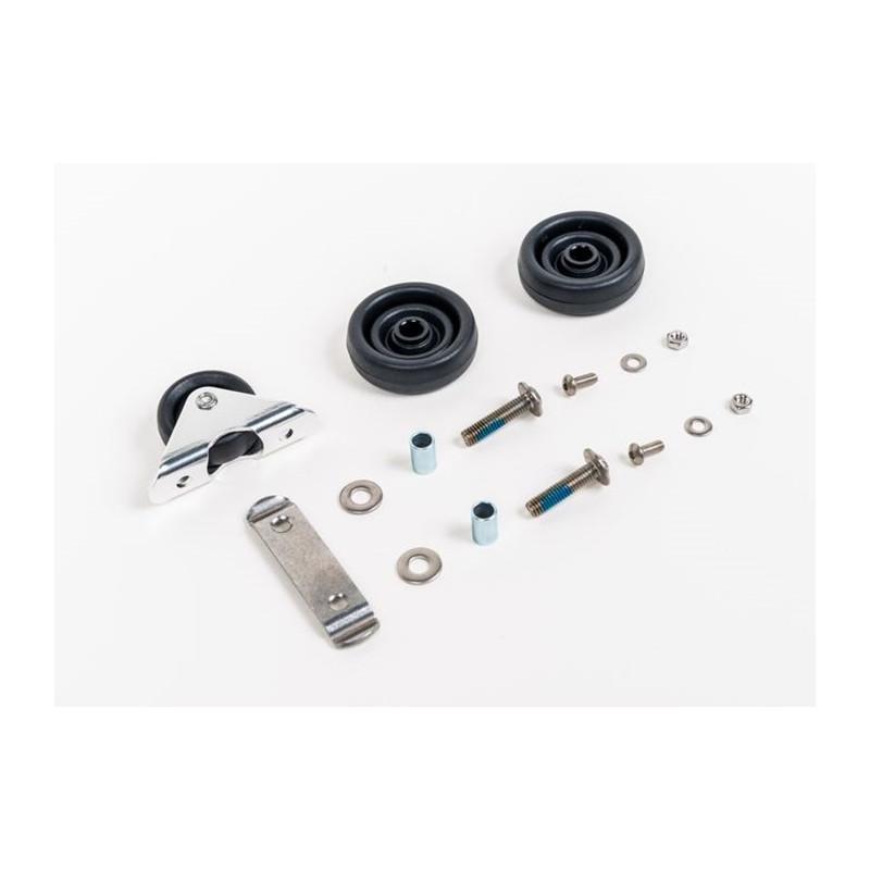 Brompton - Paire roulette std pour L/E avec fixation et roulette de garde-boue (QROLSET-LE)