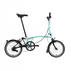 Vélo pliant BROMPTON Black Edition M6L Noir/Turkish Green