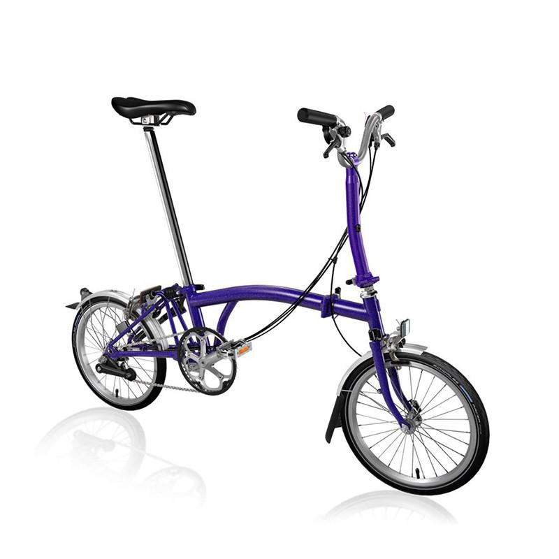 Vélo pliant BROMPTON M6L Purple Metallic M6LF/PM/PM/BAT3/FCB/REV