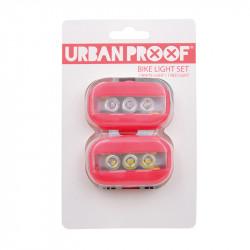 Lumières vélo clip URBAN PROOF rouge pâle