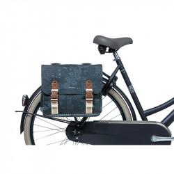 Double sacoche vélo BASIL bohème 35L bleu indigo