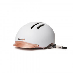Casque vélo urbain THOUSAND Chapter Supermoon White + éclairage