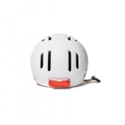 Casque vélo urbain THOUSAND Chapter Supermoon White + éclairage
