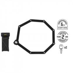 Antivol pliant 110cm AUVRAY F-lock support vélo inclus