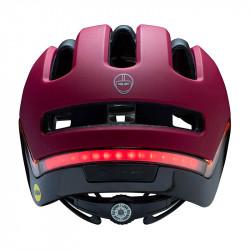 Casque vélo lumière intégrée Rouge Cabernet NUTCASE Vio
