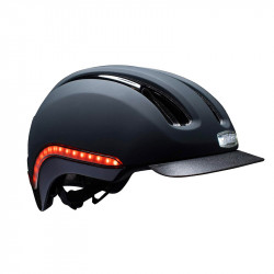 Casque vélo lumière intégrée Noir Mat Cabernet NUTCASE Vio