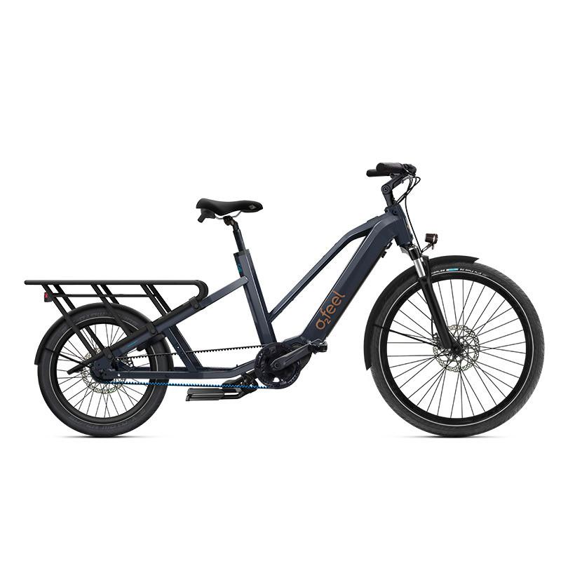 Vélo cargo long tail électrique O2Feel Equo Power 7.1
