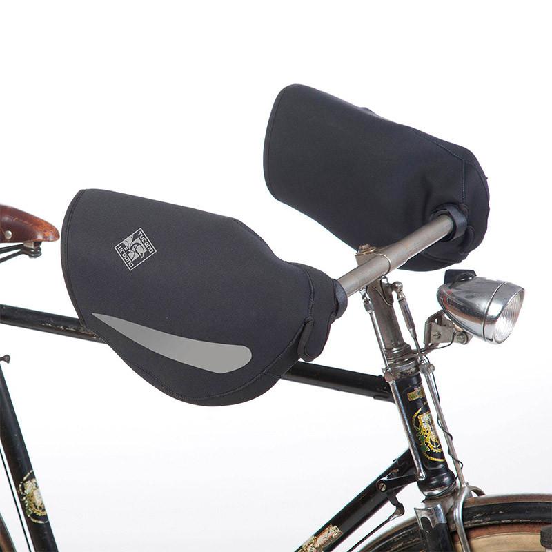 Manchons vélo noir TUCANO URBANO pour guidon Bacco