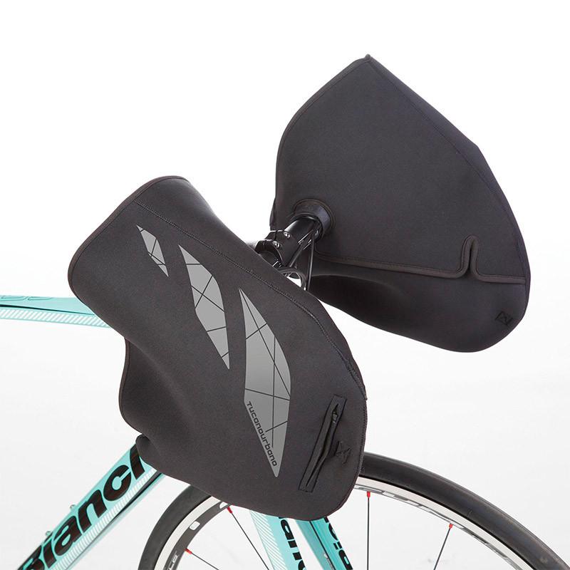 Manchons vélo noir TUCANO URBANO pour guidon Nautilus