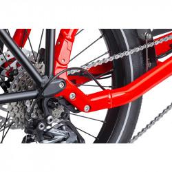 Vélo cargo électrique cadre compact Tern HSD P9 Gris Sablé