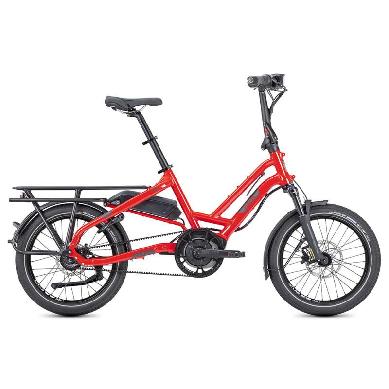Vélo cargo électrique compact Tern HSD S8i rouge