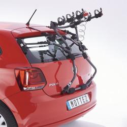 Porte vélo voiture 3 vélos MOTTEZ fixation hayon 5 sangles Shiva (compatible +360 modèles)