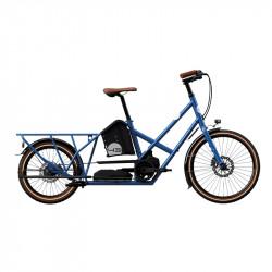 Vélo électrique longtail BIKE43 Performance Bleu Métal