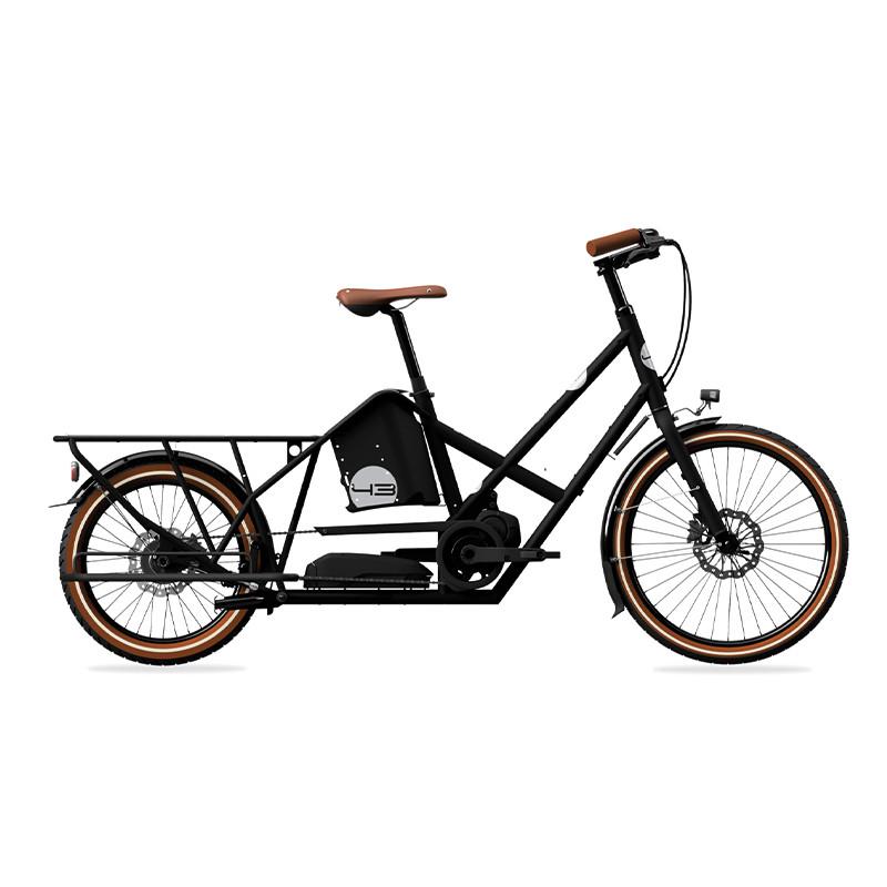 Vélo électrique longtail BIKE43 Performance Noir Mat