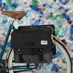 Paire sacoches vélo 40L tissu recyclé URBAN PROOF Noir Gris