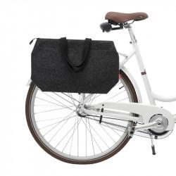 Sacoche cabas vélo avec zip COBAGS ZipZac Gris foncé