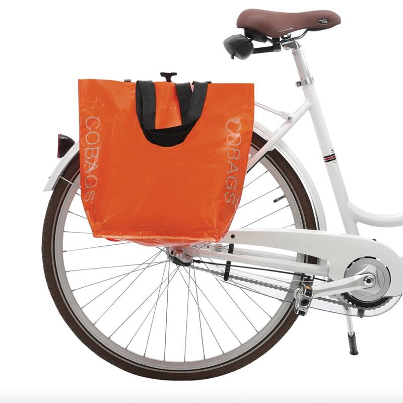 Sacoche cabas vélo COBAGS Bikezac 2.0 orange