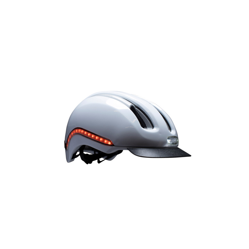 Casque vélo lumière intégrée Blanc Rozay NUTCASE Vio