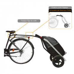 Remorque vélo chariot shopping trailer Bike Original