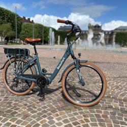 Vélo électrique moteur central puissant BEAUFORT Bonnie Gris